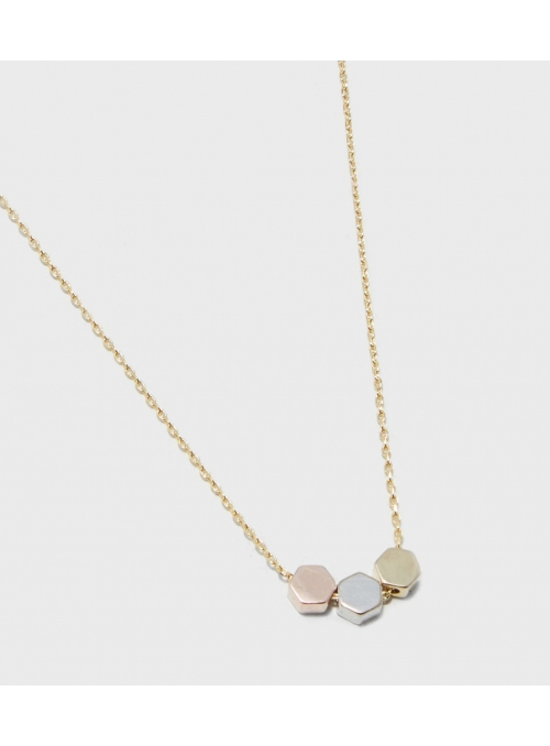 "Necklace ""Three honey plates"""