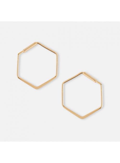 "Earrings ""Hexagon"", gold"