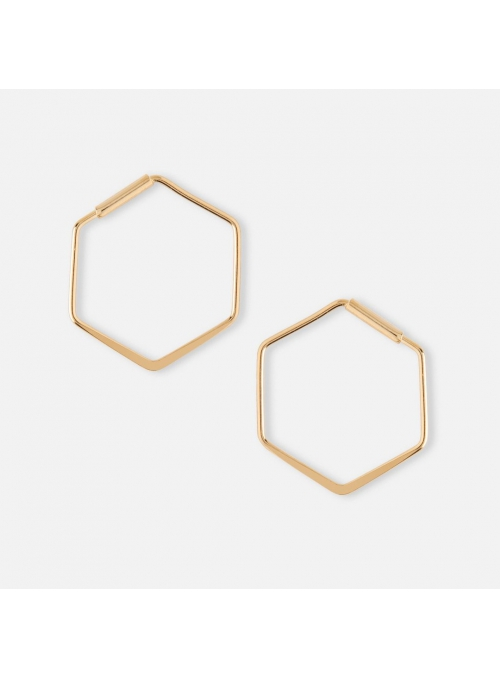 "Earrings ""Hexagon"", gold"