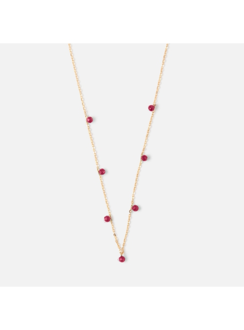 "Necklace""Ruby drops"""