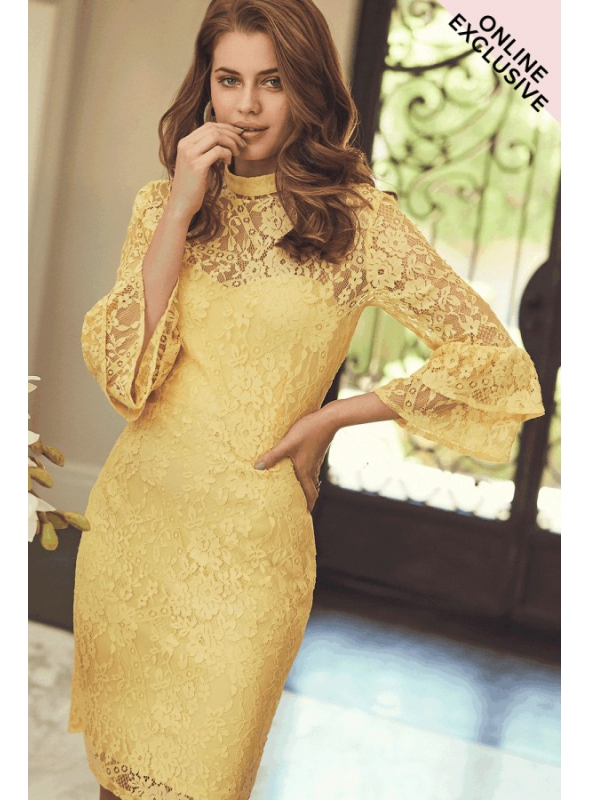 "PREDOBJEDNÁVKA Šaty ""Yellow lace"""
