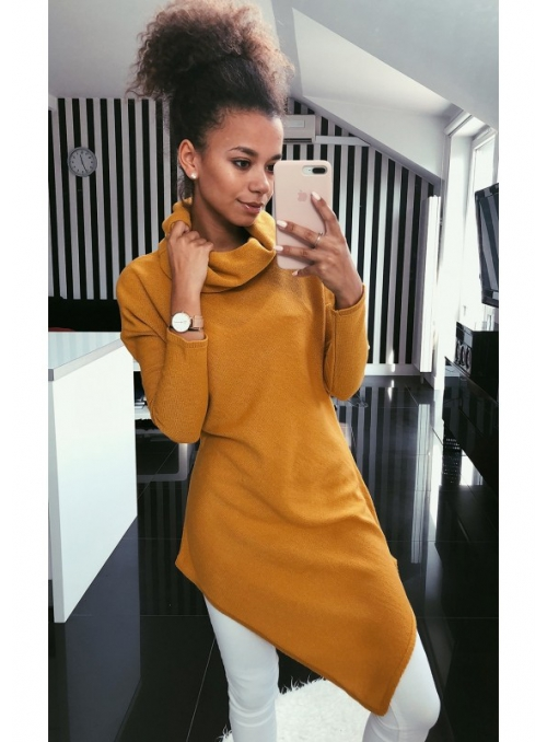 "Asymmetrical sweater ""mustard"""
