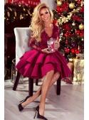 """Šaty """"Lili"""", vianočná ruža"""