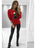 "Sweater ""Christmas tree"", red"