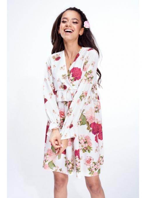 Bílé šaty s růžemi