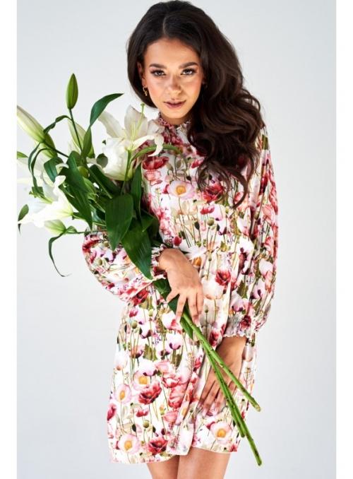 Šaty s límcem a květinami