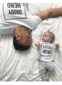 DADDY HERO – pánské tričko, bílé
