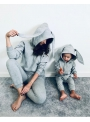 "children jumpsuit with hood and ears ""GRAY BUNNY"""