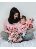 """pudrovo ružová dámska mikina """"RED LOVE"""""""