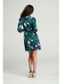 """Šaty """"petrolejové kvety"""" s viazaním"""
