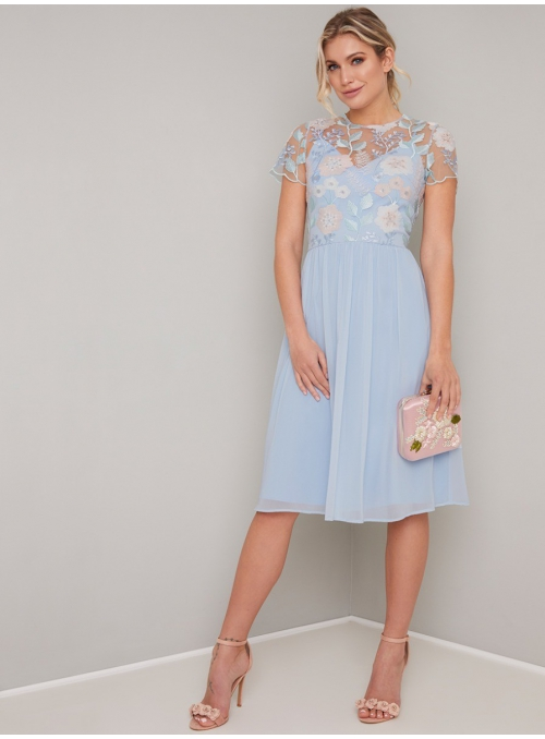 "Evening dres ""Blue Meadow"""
