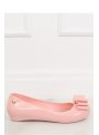 Ladies ballet flats with a bow, pink