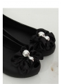 Rubber ballet flats, black