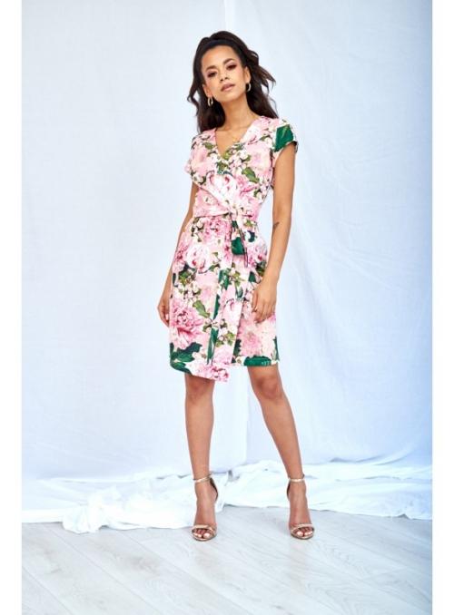 Mini šaty s viazačkou – pivonka