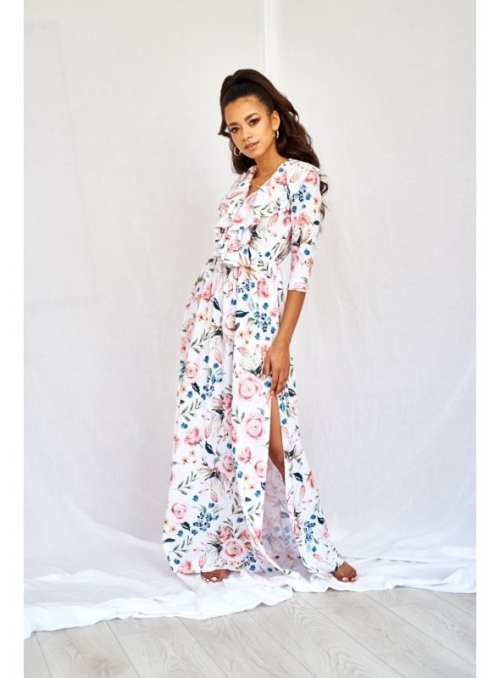 """Maxi šaty """"Ružová záhrada"""""""