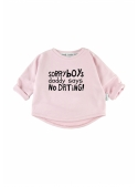"""SORRY BOYS ..."" - children's sweatshirt, pink"