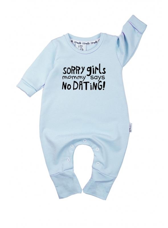 """""""Sorry girls"""" – detské body tyrkysové - 12-24 mesiacov"""
