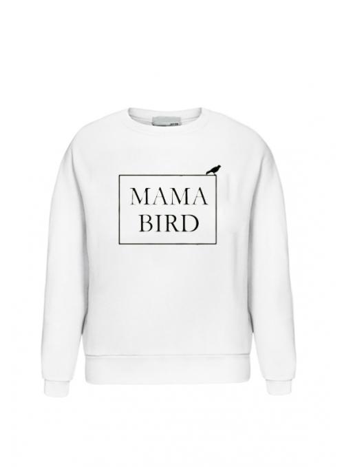 """biela dámska mikina """"MAMA BIRD"""" - S"""