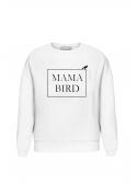 """White women's sweatshirt """"Mama Bird"""""""