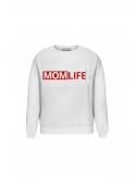 """White women's sweatshirt """"MOM LIFE"""""""