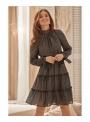 Šaty Josefina - dámske tmavomodré šaty - XS