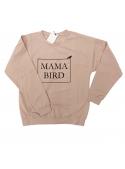 """Pink women's sweatshirt """"Mama Bird"""""""