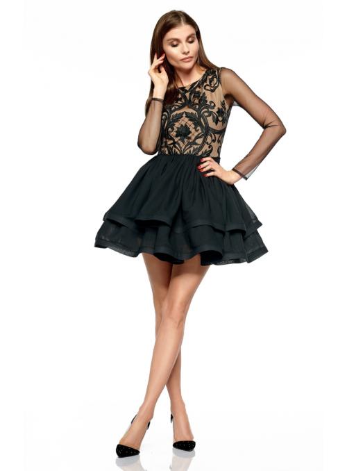 Mini černé šaty Scarlett