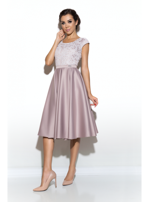 Midi dress Mauve happiness