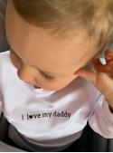 I LOVE DADDY– dětská mikina, bílá