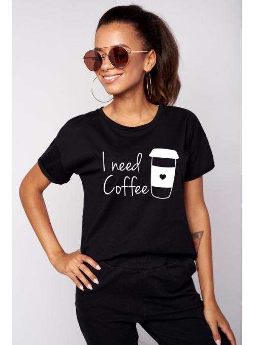 """Dámske tričko """"I need coffee"""" - XS"""