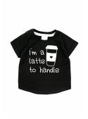 I´m a latte to handle – dětské tričko, černé