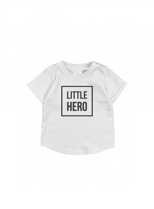 LITTLE HERO – dětské tričko, šedé