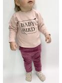 BABY BIRD - children's sweatshirt, pink
