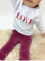 """bílá dětská mikina """"RED LOVE"""""""