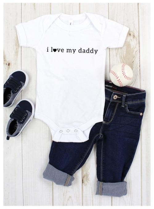 """dětské body s krátkým rukávem """"I love my daddy"""""""