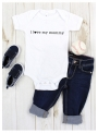 "detské body s krátkym rukávom ""I love mommy""- 0-3 mes"