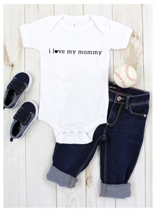 """dětské body s krátkým rukávem """"I love my mommy"""""""