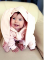 "children jumpsuit with hood and ears ""PINK BUNNY"""