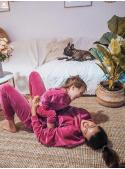 Fialové dětské tepláky