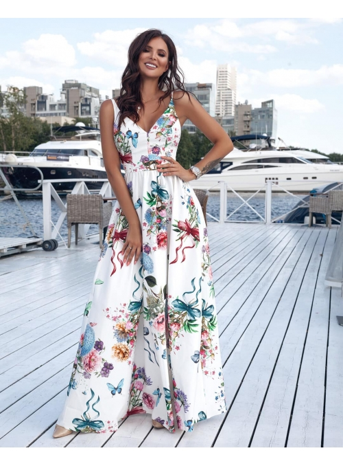 "Maxi dress with exposed-back ""Sweet Dreams"""