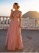 "Maxi dress ""Adelka"",light pink"