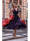 "Midi dress ""Parisian"", deep purple"