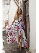 "Maxi šaty ""SWEET DREAMS"", růžičkové"