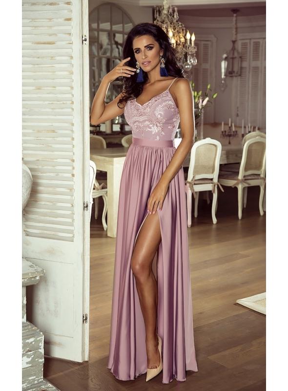 "Maxi šaty ""Bella"", ružové"