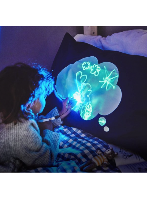 Zábavný iluminačný vankúš + laser pero