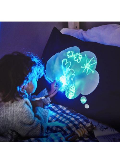 Zábavní iluminační laser potah na polštář + laser pero