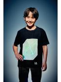 Fun luminescent black t-shirt + laser pen