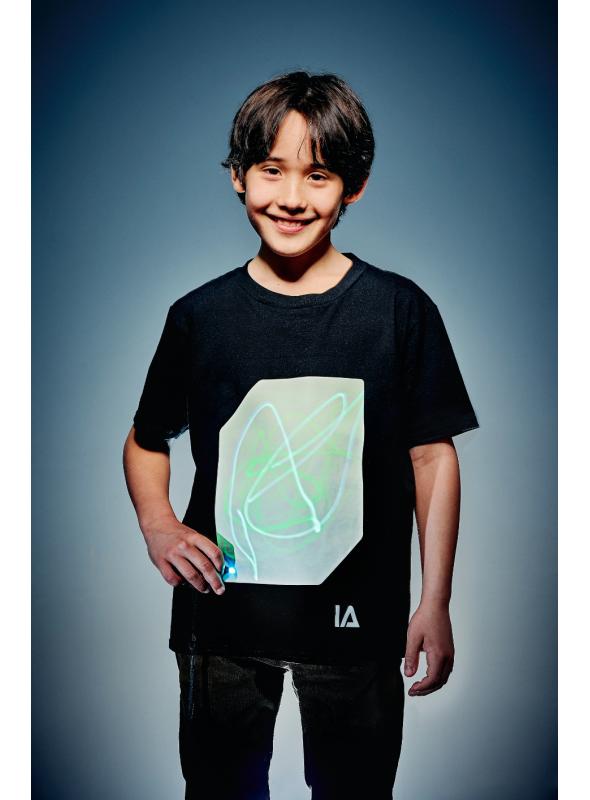 Detské zábavné iluminačné tričko + laser pero, 3-4 roky