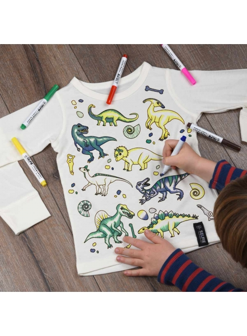 """Dinosaurs everywhere - top for coloring"" cream"