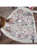 "Fairy-tale cape ""unicorn"" - cape for colorig ""- 2-10 years"
